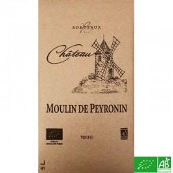 BORDEAUX  BIB 5L Château Moulin de Peyronin rouge 2016