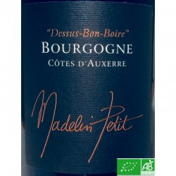 CÔTES D'AUXERRE Pinot Noir Dessus-Bon-Boire 2017 Domaine Madelin-Petit