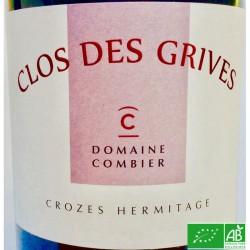 CROZES HERMITAGE Laurent Combier Clos des Grives 2017