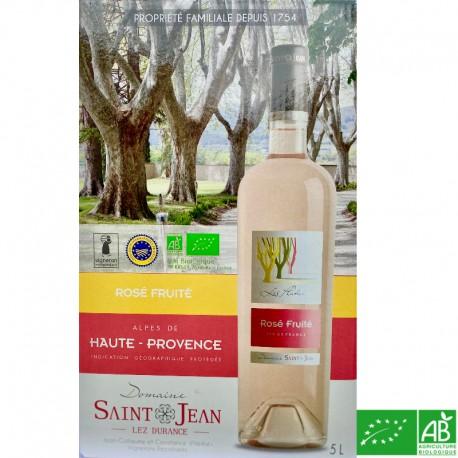 PROVENCE IGP Alpes de Haute-Provence Château Saint-Jean Lez Durance Les Platanes Rosé Fuité BIB 5L 2019