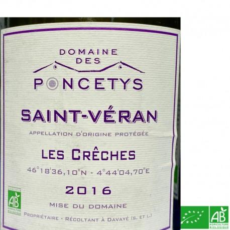 SAINT-VÉRAN Domaine des Poncetys Les Crêches 2016